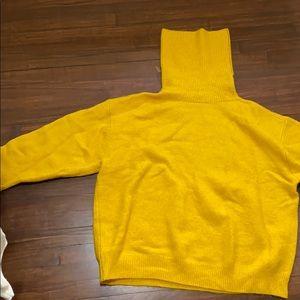 Topshop mustard oversized turtleneck sweater